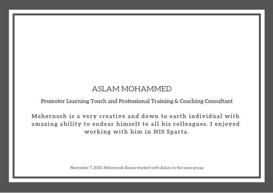 Aslam-Mohd